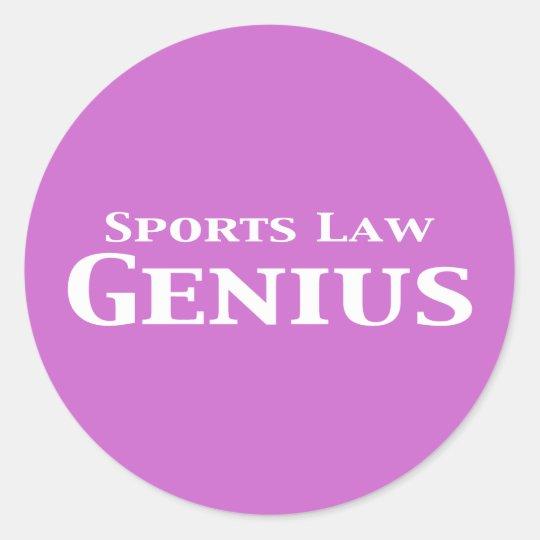 Sports Law Genius Gifts Classic Round Sticker