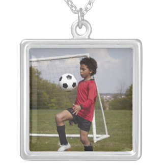 Sports, Lifestyle, Football 6 Square Pendant Necklace