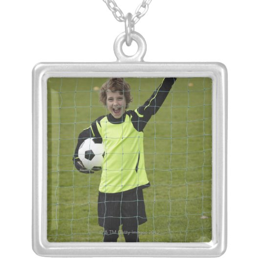 Sports, Lifestyle, Football 7 Silver Plated Necklace