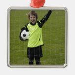 Sports, Lifestyle, Football 7 Square Metal Christmas Ornament