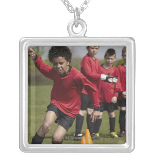Sports, Lifestyle, Football Silver Plated Necklace