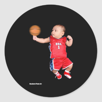 Sports Line - Basketball Classic Round Sticker
