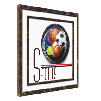 Sports lover canvas print