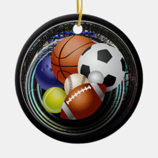 Sports lover ceramic ornament