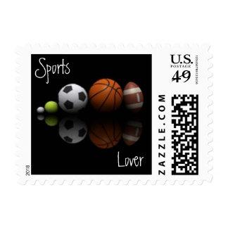 Sports Lover Postage Stamp