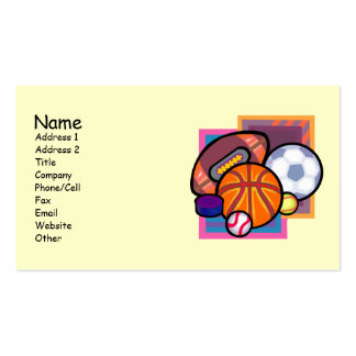 Sports Lovers Business Cards