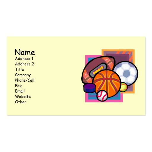 Tennis Player Business Cards Page4