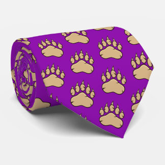 Sports Mascot Claw Print Football Basketball Tie