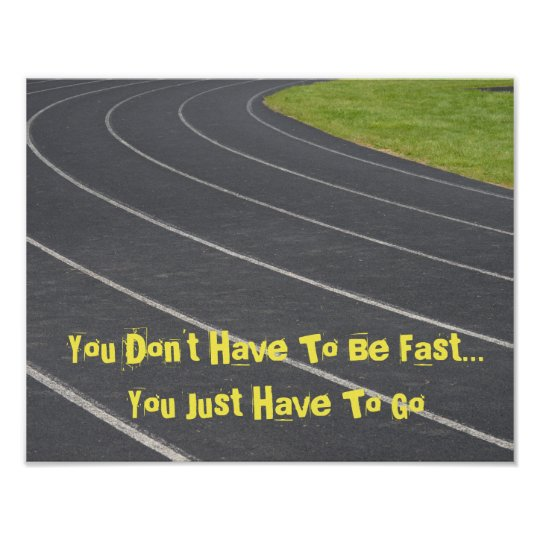 Sports Motivational Poster Track Field Poster