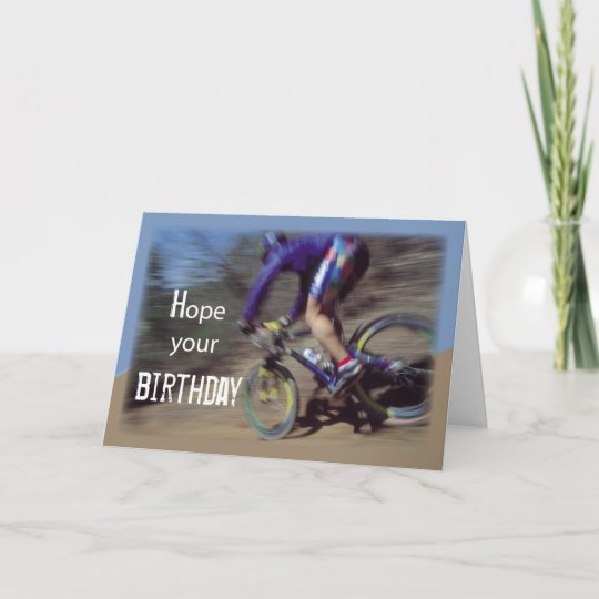 sports mountain bike birthday card zazzle com