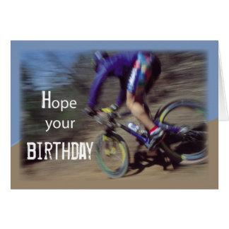 Sports Mountain Bike Birthday Card