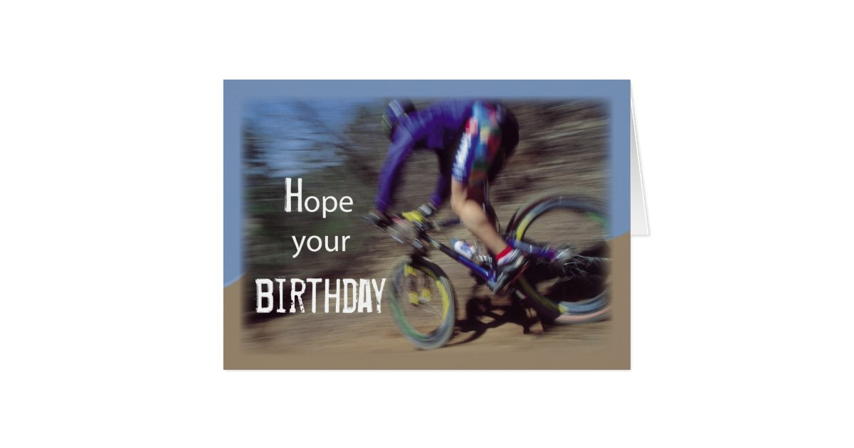 sports mountain bike birthday card