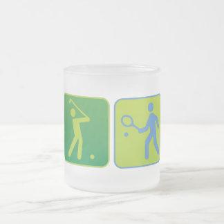 sports 10 oz frosted glass coffee mug