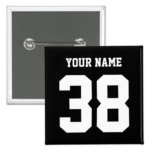 Sports Name and Number custom button