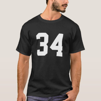 Sports number 34 T-Shirt