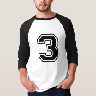 sports number 3 t shirt