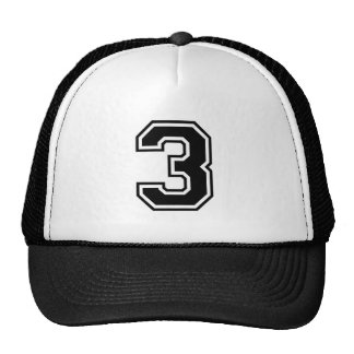 sports number 3 trucker hat