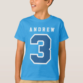 Sports Number 3rd Birthday Tee BLUE A01