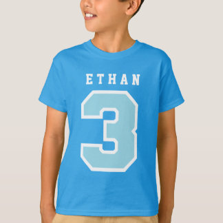 Sports Number 3rd Birthday Tee BLUE A08