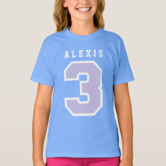 Sports Number 3rd Birthday Tee BLUE A14