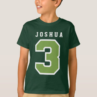 Sports Number 3rd Birthday Tee GREEN A06