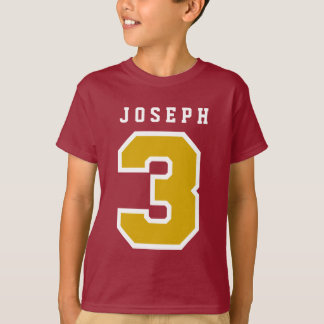 Sports Number 3rd Birthday Tee MAROON A09