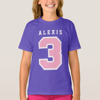 Sports Number 3rd Birthday Tee PURPLE A12