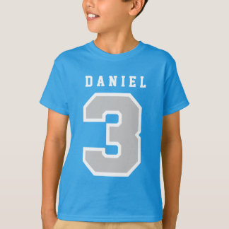 Sports Number 3rd Birthday Tee TEAL A07