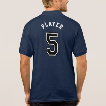 Sports Number 5 Jersey Polo Shirt