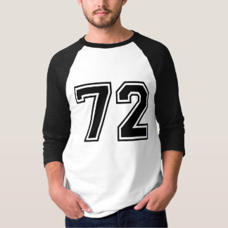sports number 72 tee shirt