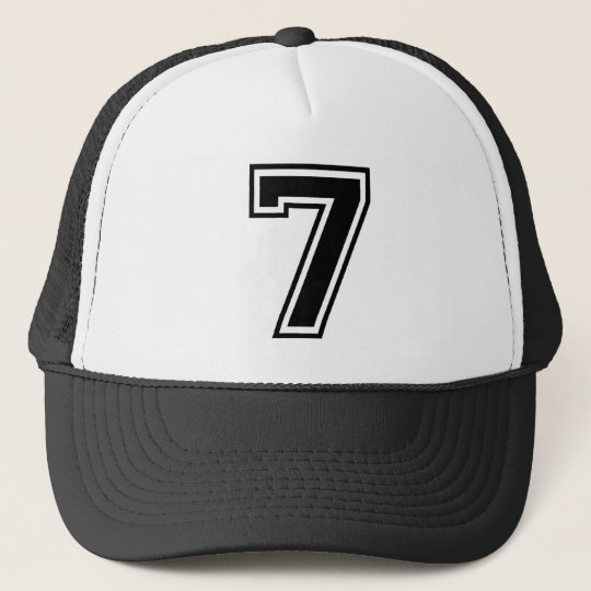 sports number 7 trucker hat