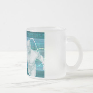 Sports or Sport Nutrition as a Research Concept Frosted Glass Coffee Mug