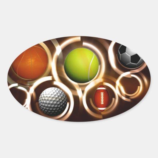 sports oval sticker