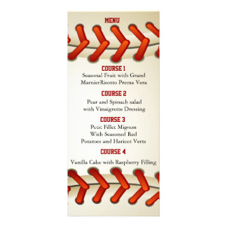 Sports Party Baseball theme Personalize Menu cards