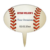 Sports Party Baseball theme Personalized Cake Pick