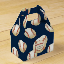Sports Party Baseball theme Personalized favor box