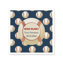 Sports Party Baseball theme Personalized napkins