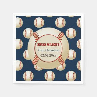 Sports Party Baseball theme Personalized napkins