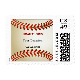 Sports Party Baseball theme Personalized Stamps
