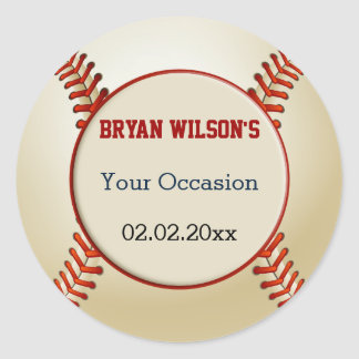 Sports Party Baseball theme Personalized stickers