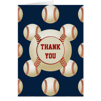 Sports Party Baseball theme Personalized Thank You Cards
