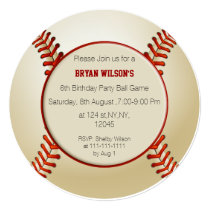 Sports Party Baseball theme photo Invites