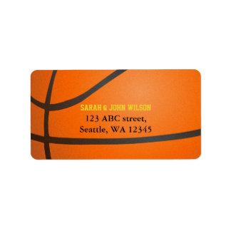 Sports Party Basketball theme address label