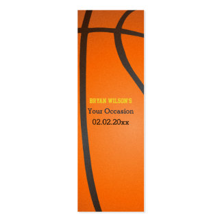 Sports Party Basketball theme Gift Tagt Double-Sided Mini Business Cards (Pack Of 20)