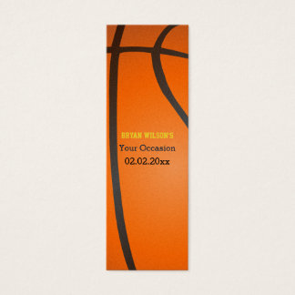 Sports Party Basketball theme Gift Tagt Mini Business Card