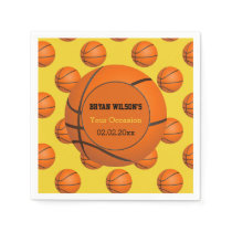 Sports Party Basketball theme Personalized napkins
