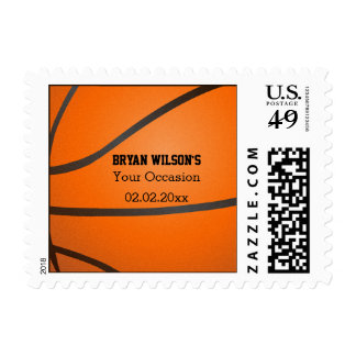 Sports Party Basketball theme Personalized Stamps