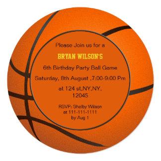 Sports Party Basketball theme photo Invites