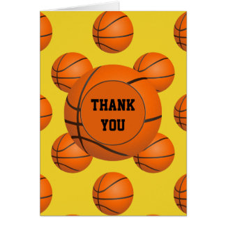 Sports Party Basketball theme Thank You Card