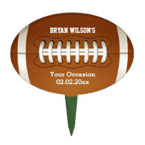 Sports Party Football theme Personalized Cake Pick